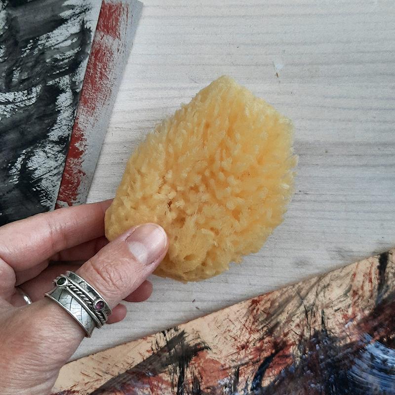 watercolor sponge